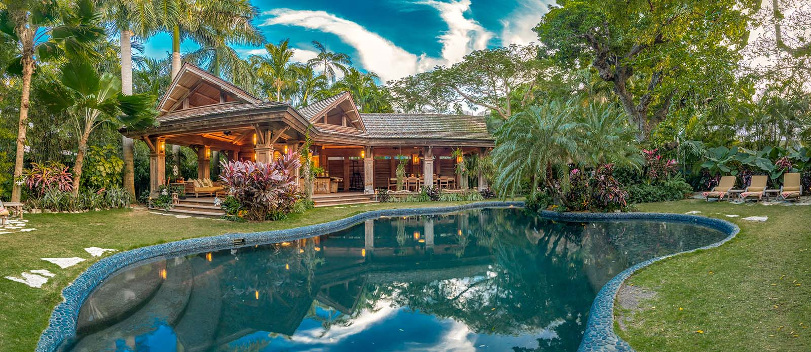 house of the week  tropical island retreat with private