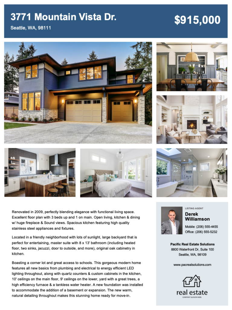 Real Estate Flyer Free Templates Zillow Premier Agent
