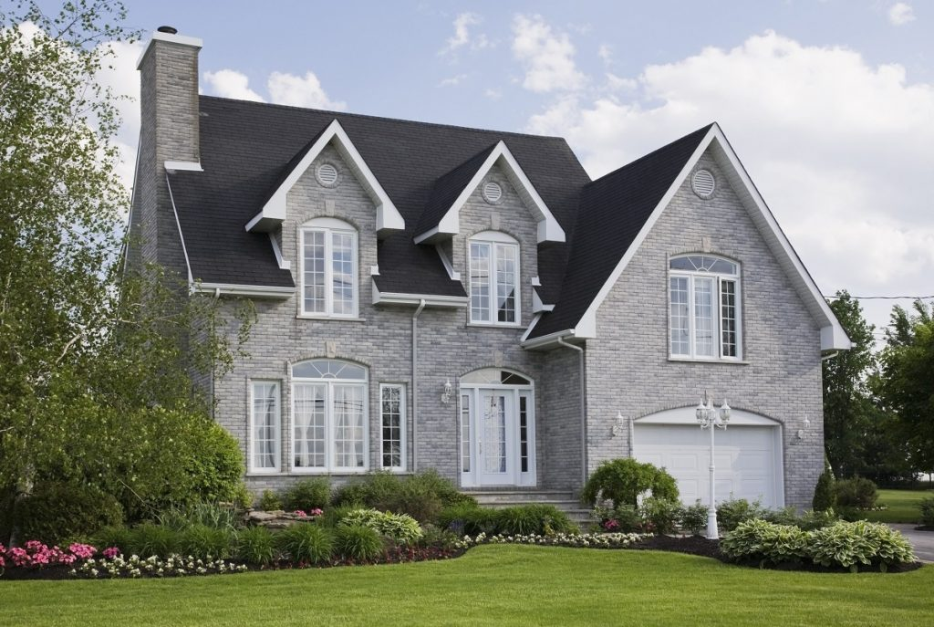 Exterior of traditional style suburban home