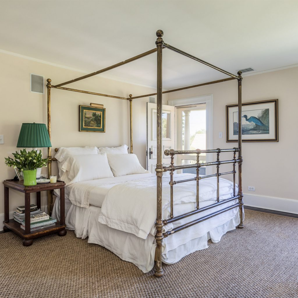 image of the witch's hat house in water mill master bedroom
