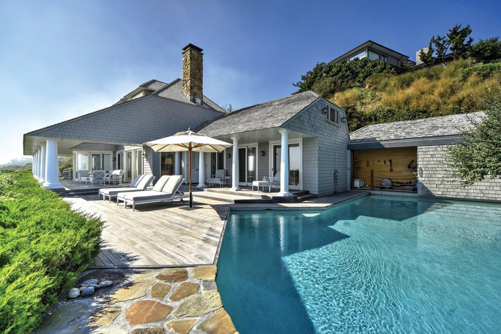 image of hamptons home design trends deck and pool