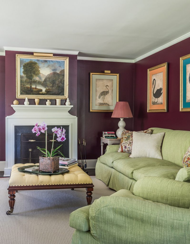 image of the witch's hat house in water mill living room