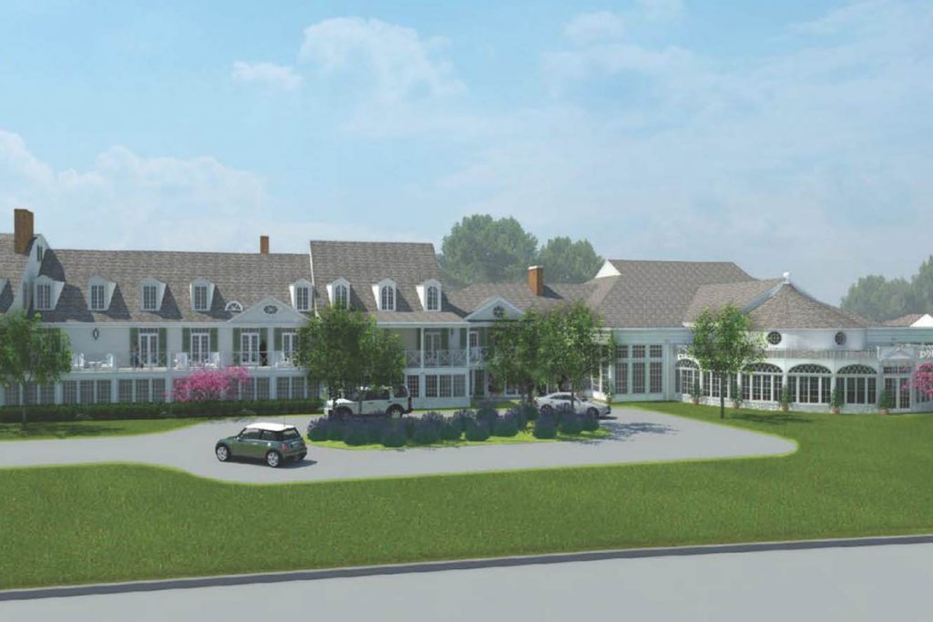 image of restored canoe place inn rendering