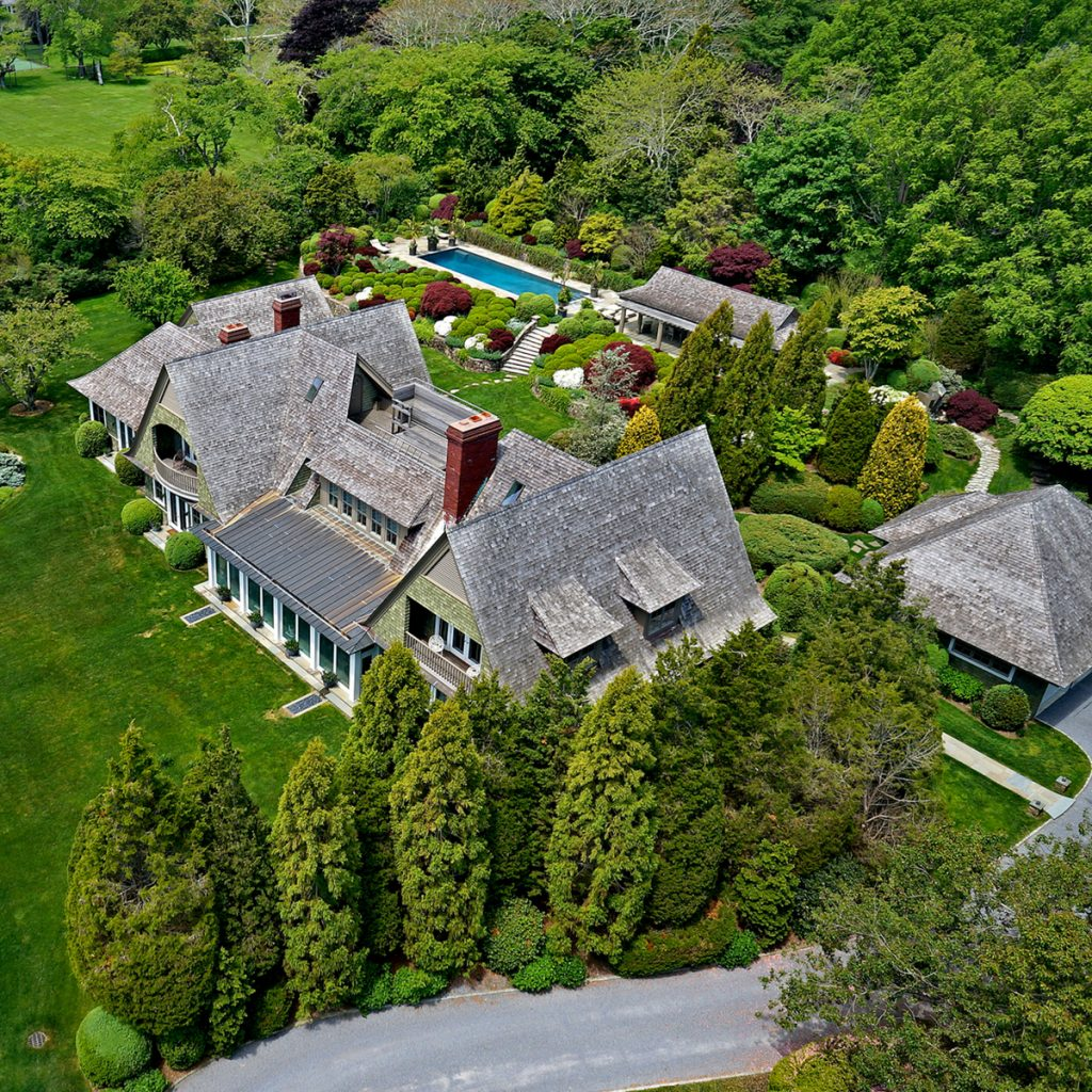 image of kevin durant hamptons house aerial view