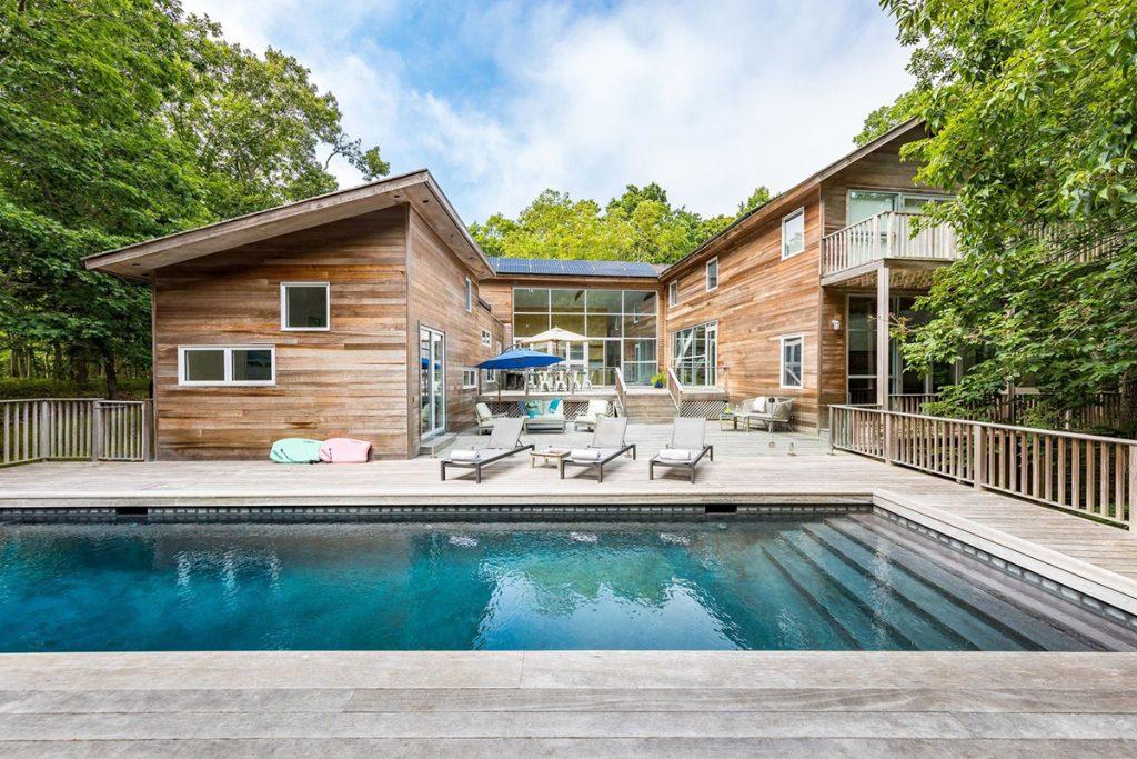 image of pool deck design hamptons