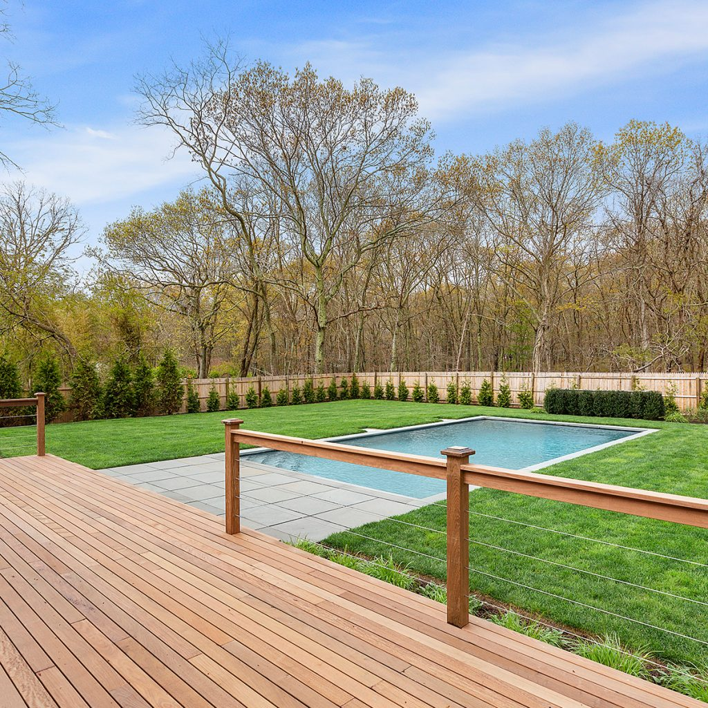 image of deck of bridgehampton house