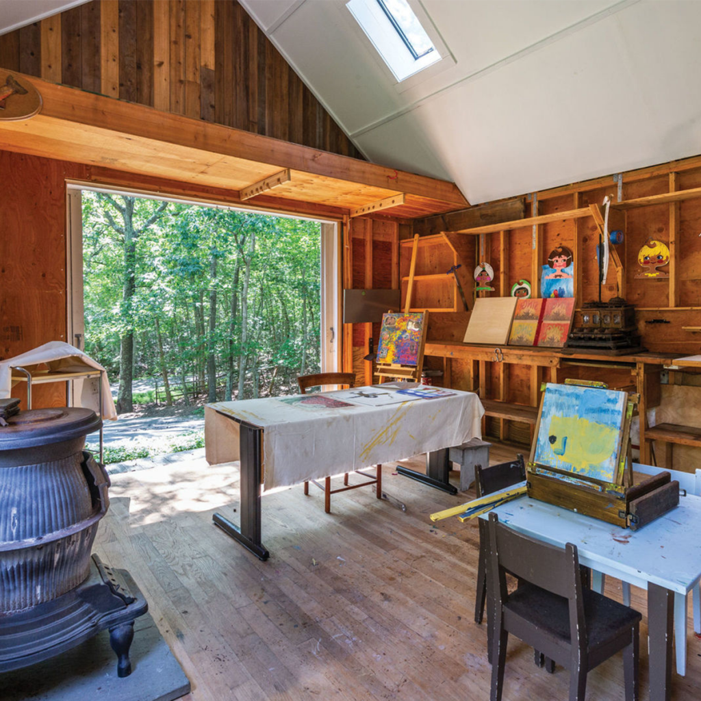 A photo of the artist's studio at 1105 Millstone Rd, Sag Harbor