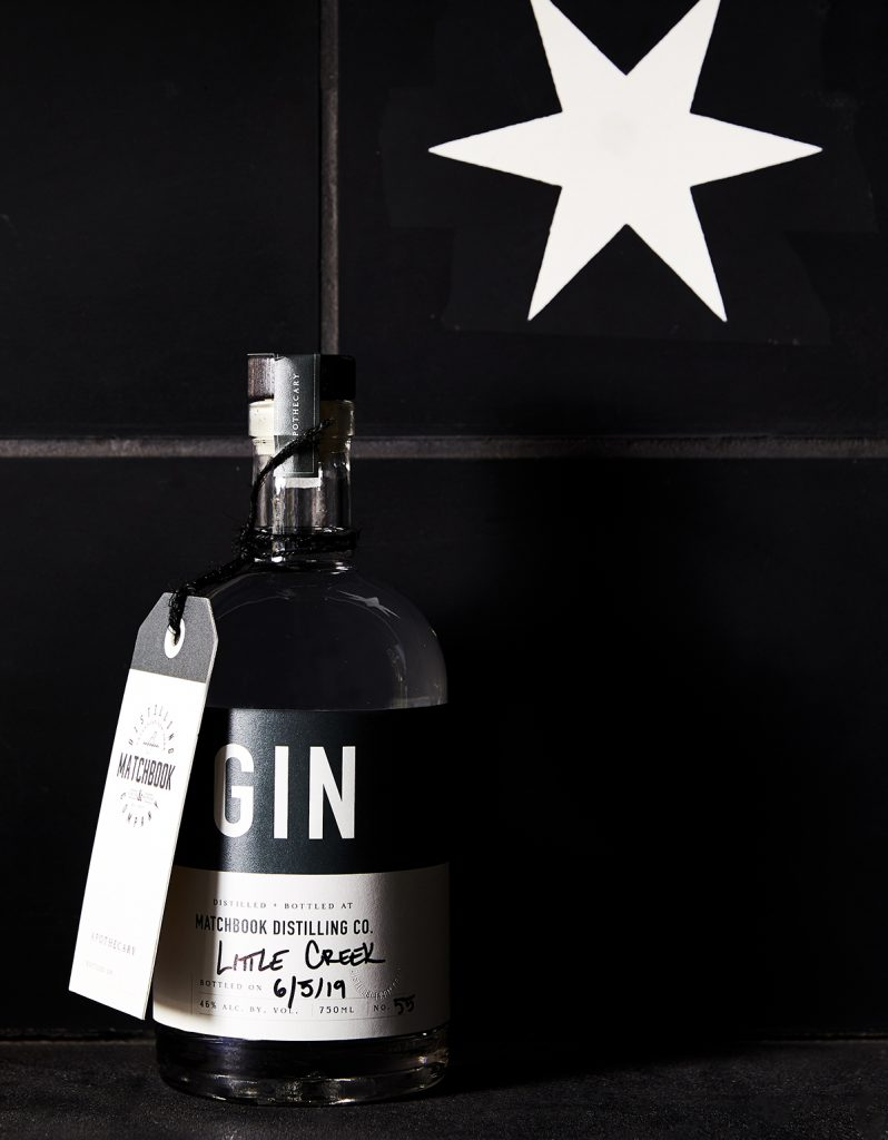 image of matchbook distilling gin