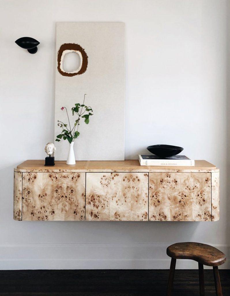 image of natural wood panel home design