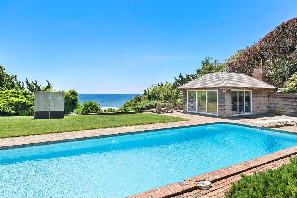 image of edward albee montauk house pool