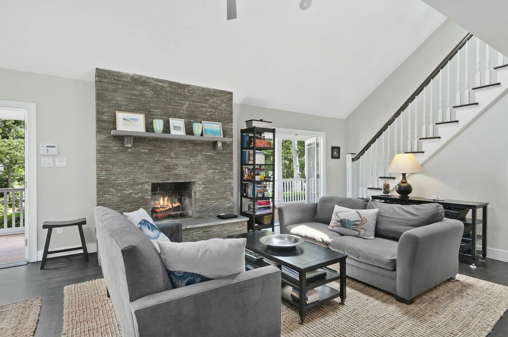 A photo of the living room at 25 Oyster Pond Ln, East Hampton