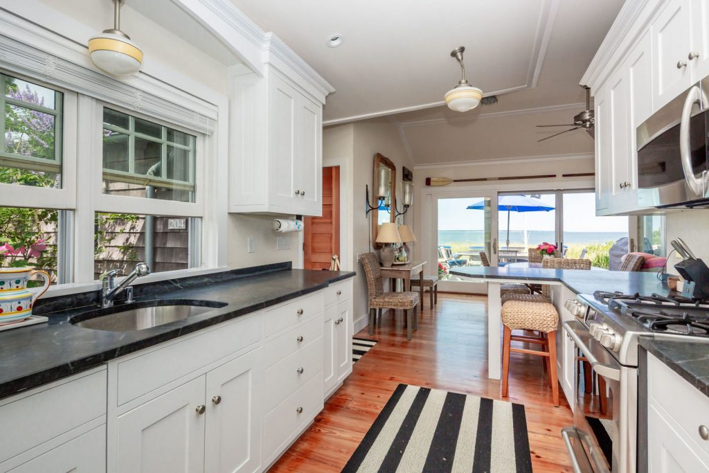 A photo of the kitchen at 204 Shore Rd, Amagansett