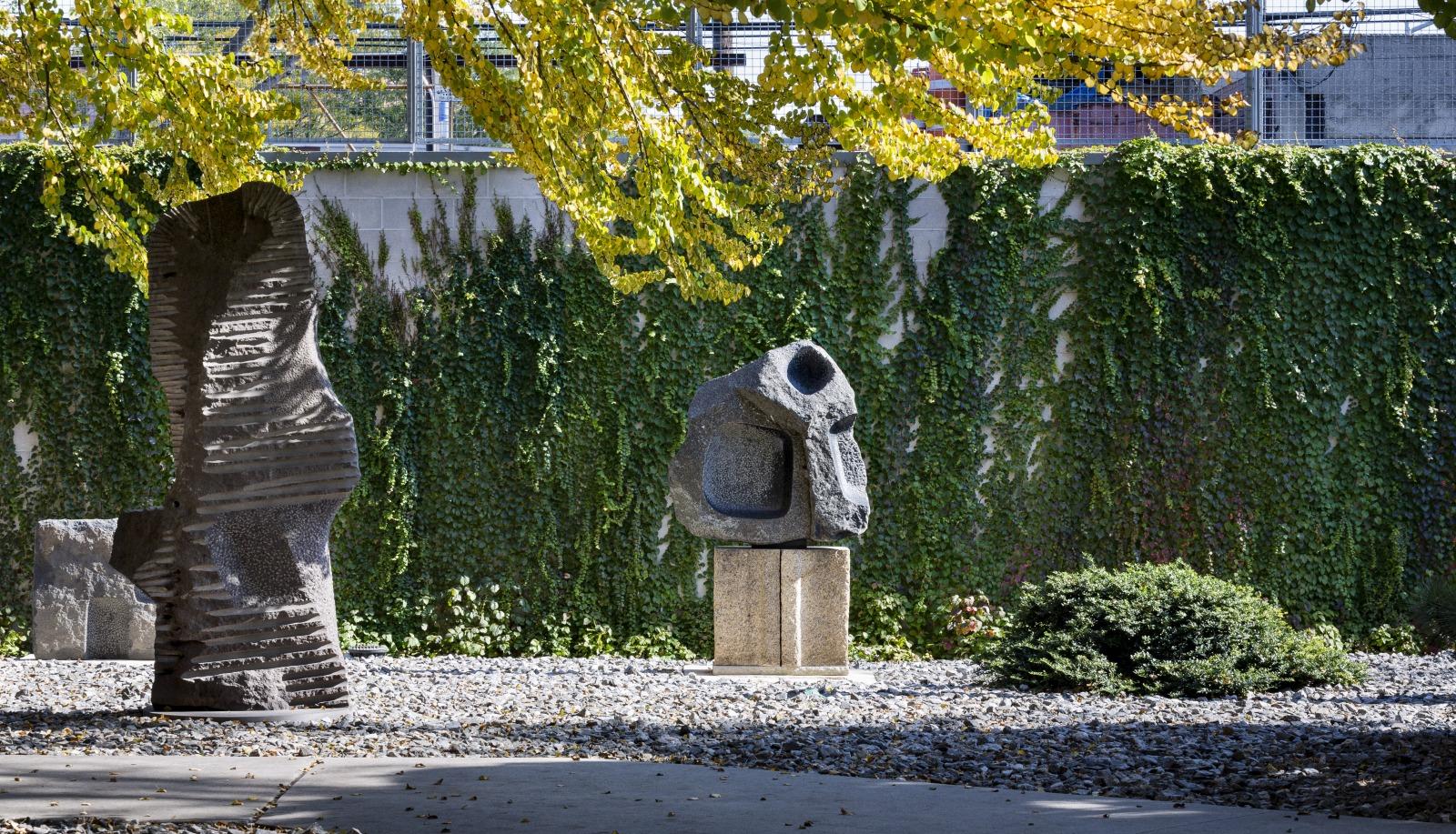 The gravel garden at The Noguchi Museum