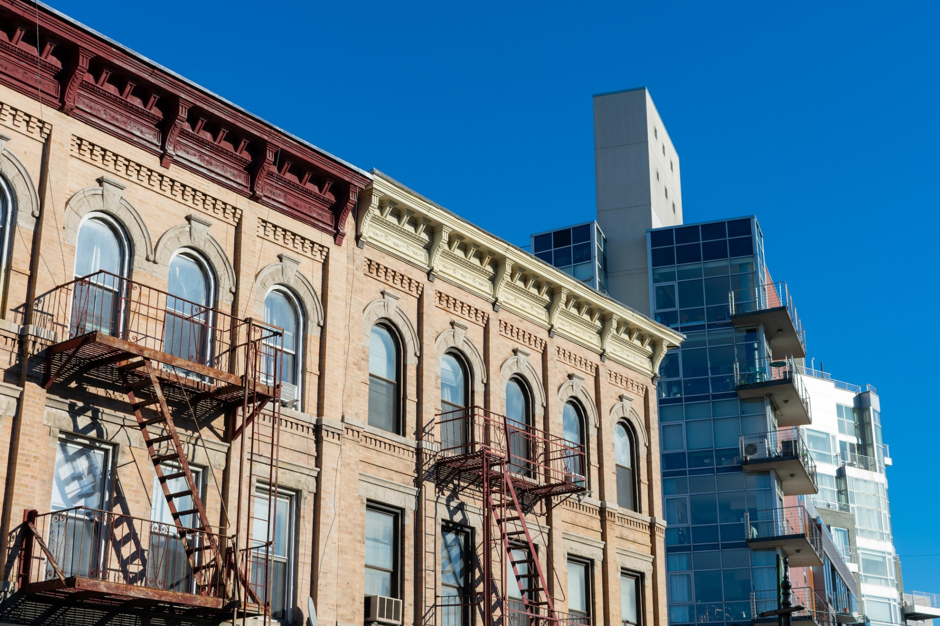 Prewar buildings and new construction in Greenpoint Brooklyn