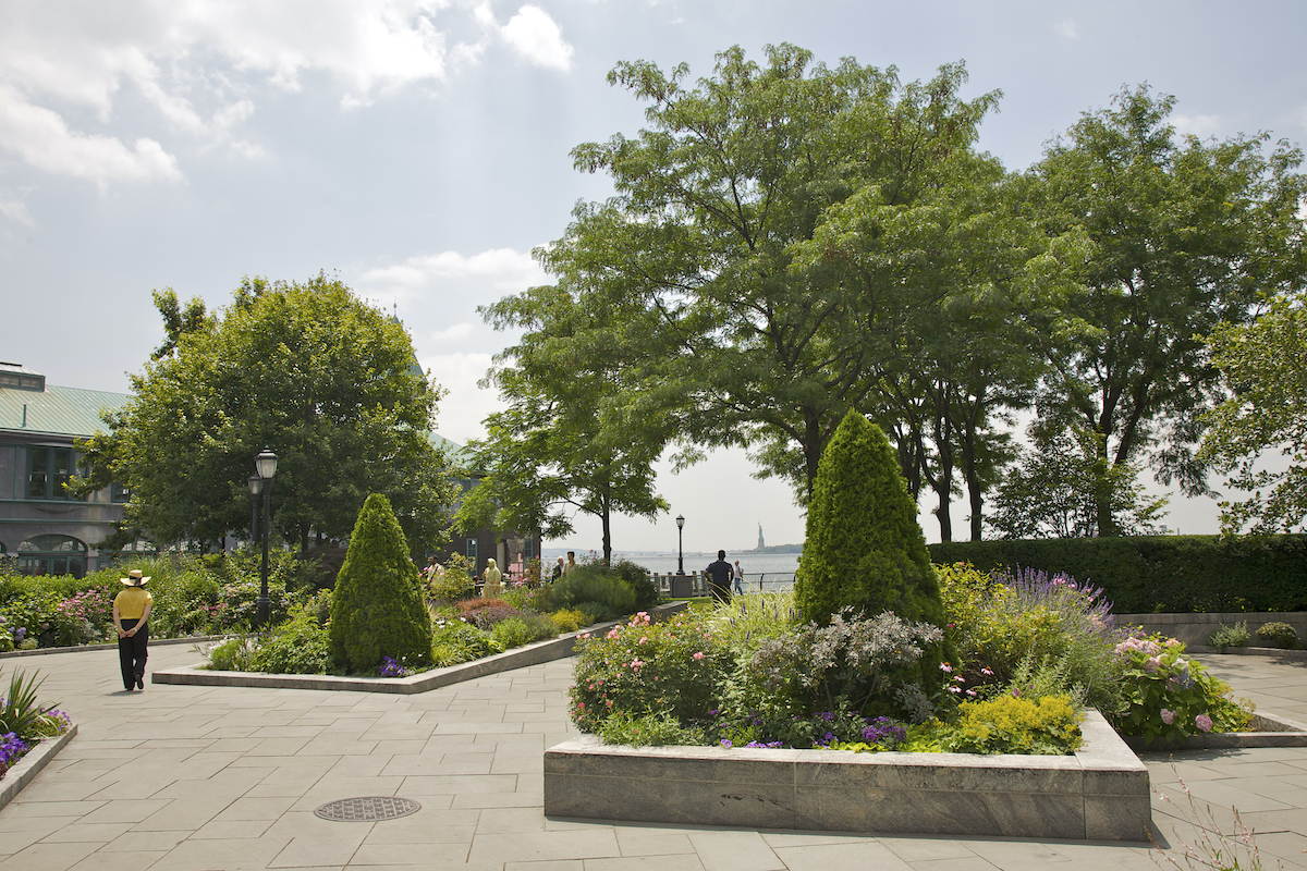 One of the best gardens in NYC is the Battery Gardens in Battery Park