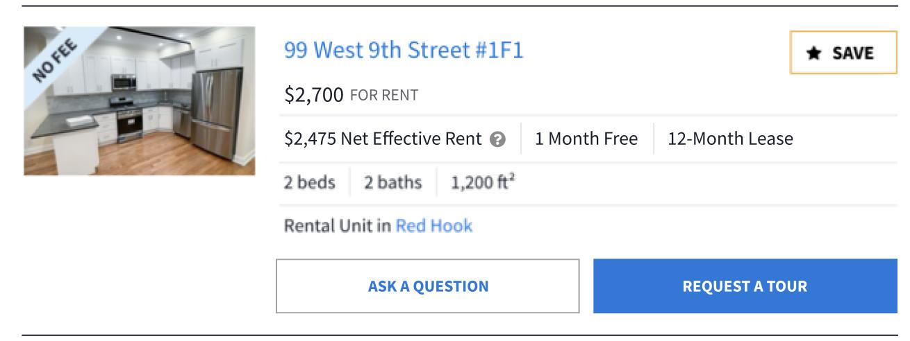 neat effective rent screen shot