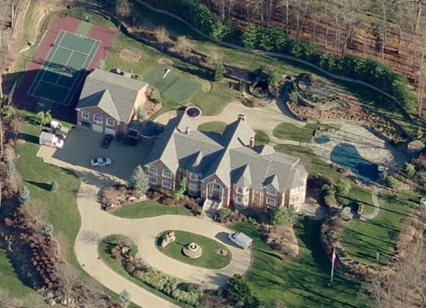 Sean Diddy's Home Aerial View