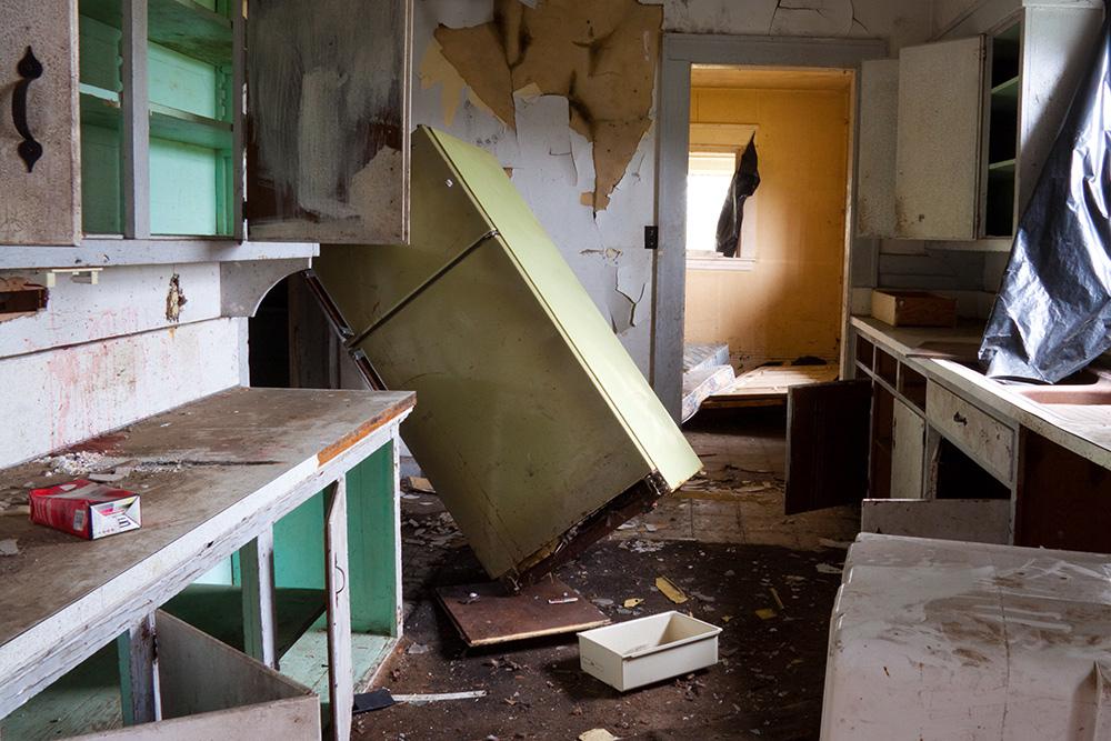 wrecked kitchen