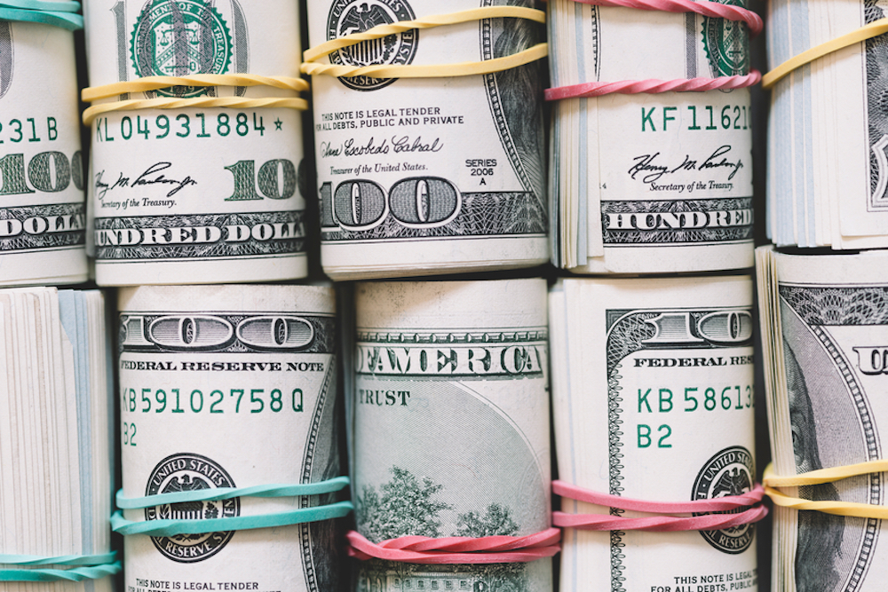 Rolls of US Currency.
