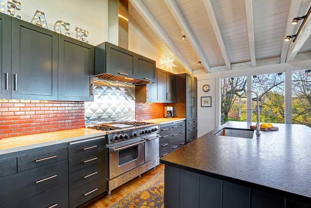 Modern and sleek kitchen.