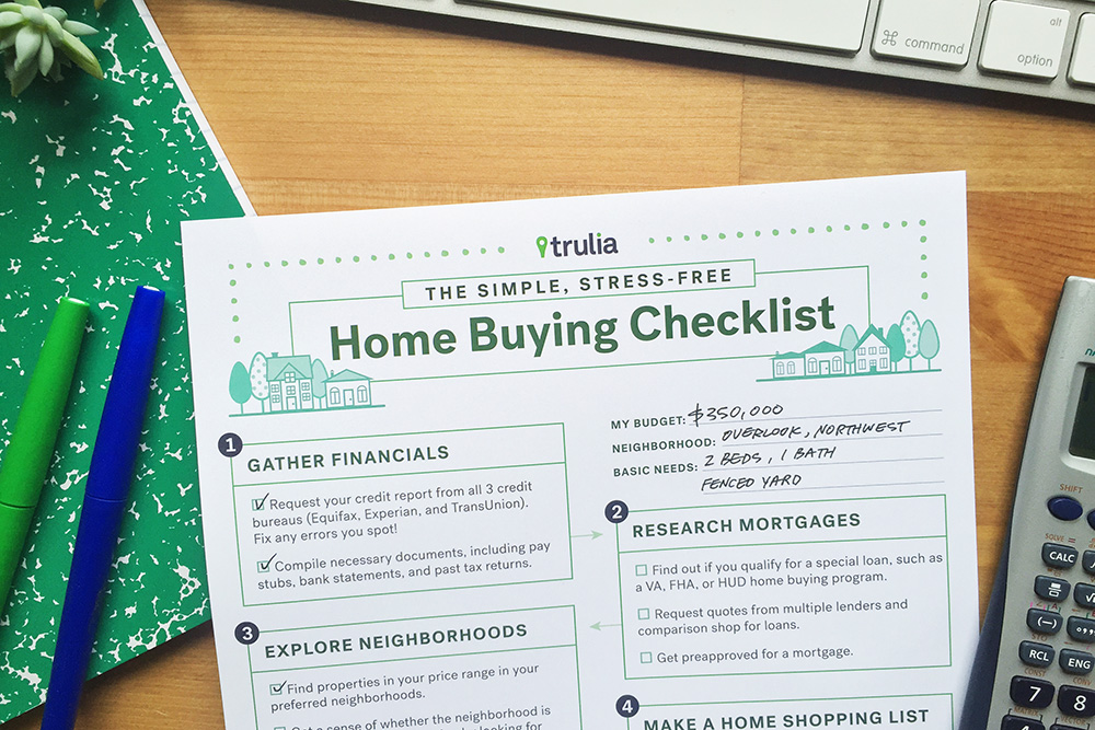 photograph relating to House Hunting Checklist Printable called Trulias Dwelling Shopping for Record - Trulias Web site - Accurate Estate 101