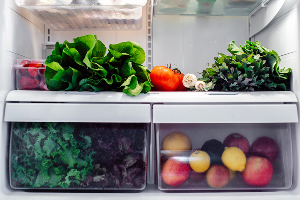 fresh food in refridgerator