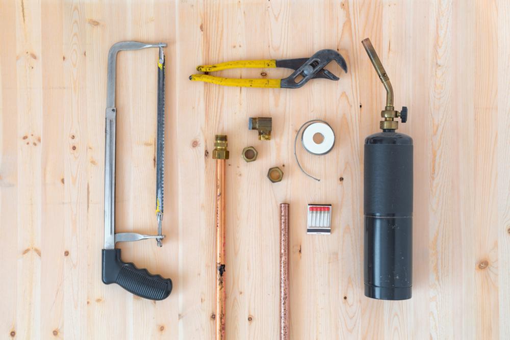tools laid on table