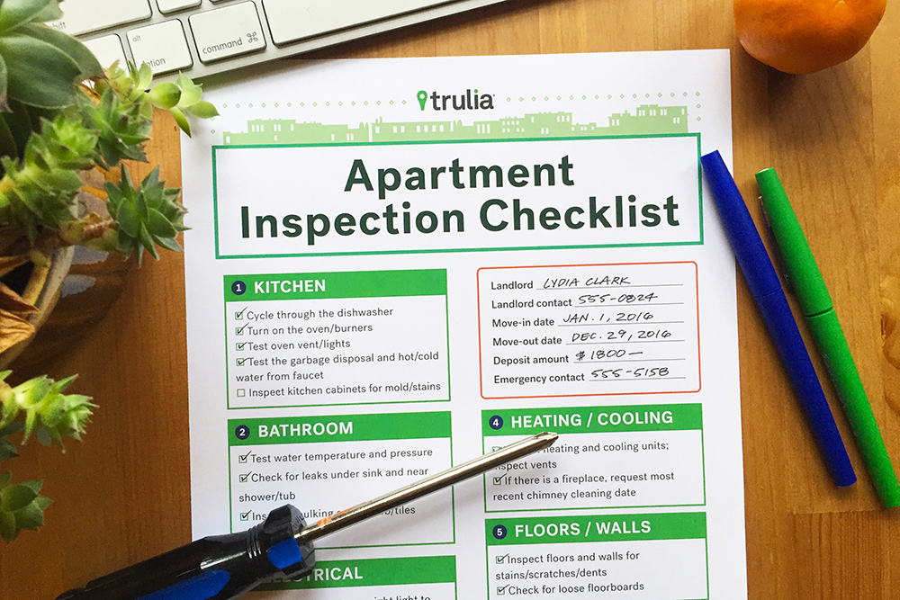 apartment rental inspection checklist