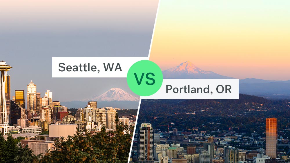 seattle skyline vs. portland skyline homes for sale