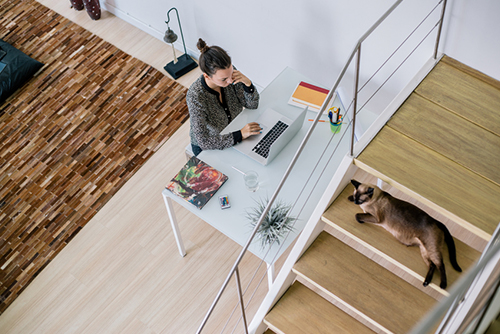how to work from home while selling a house