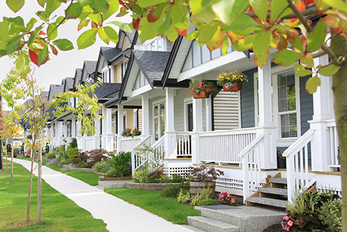 property value estimate of homes on a street