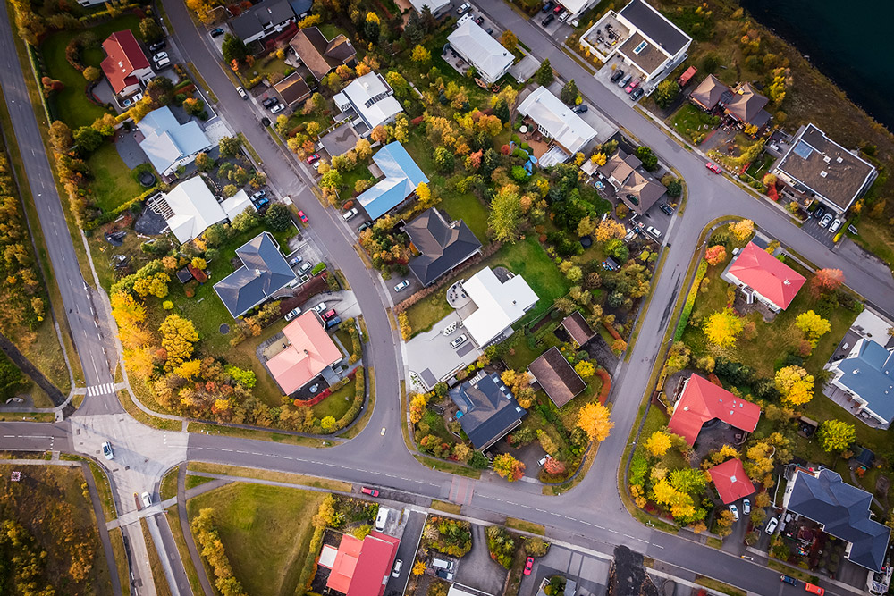 Neighborhood Aerial View