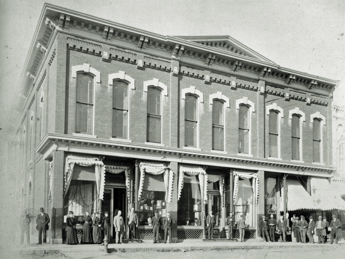 historic photo of retail building