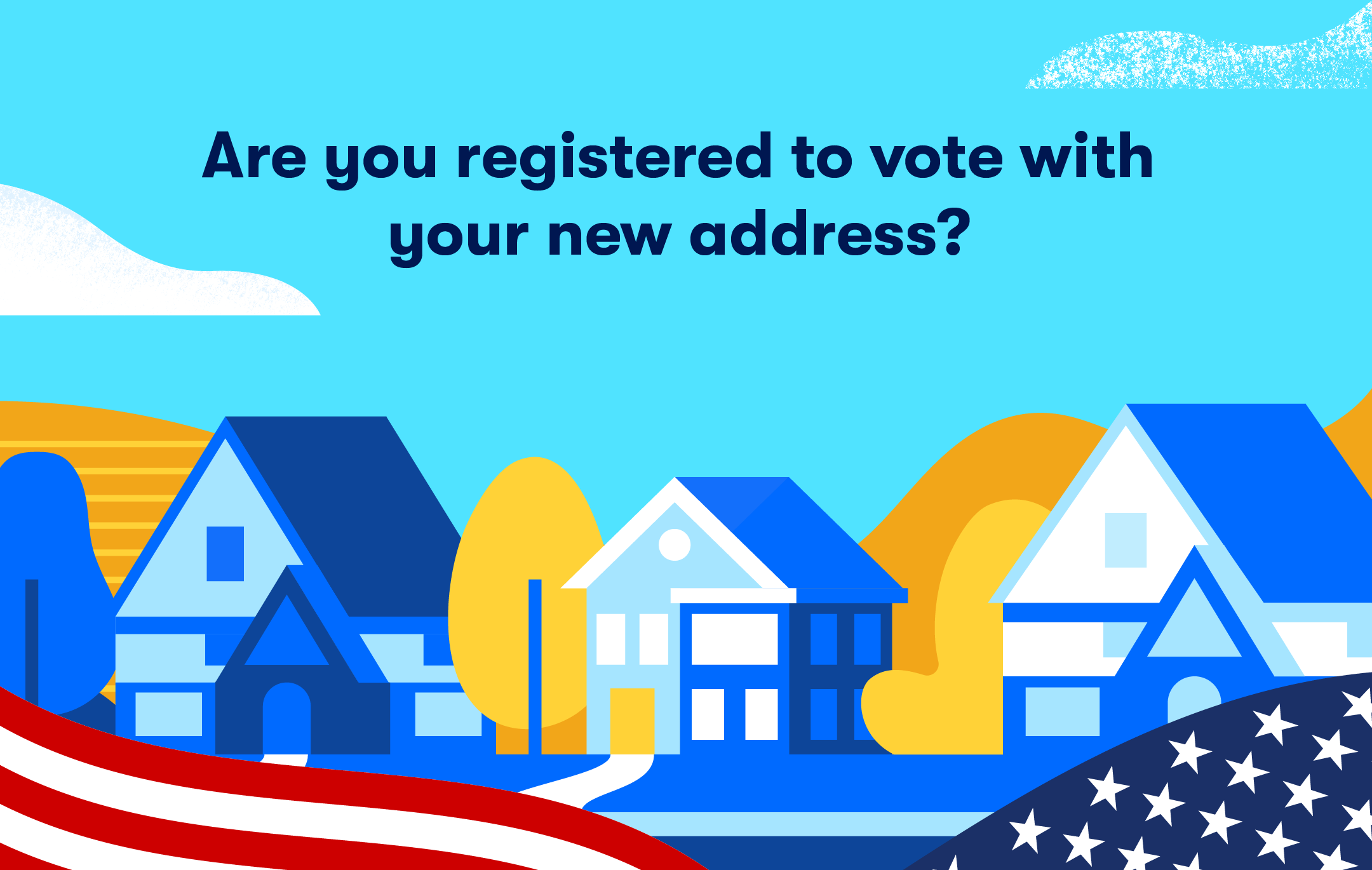 graphic that asks reader if they are registered to vote