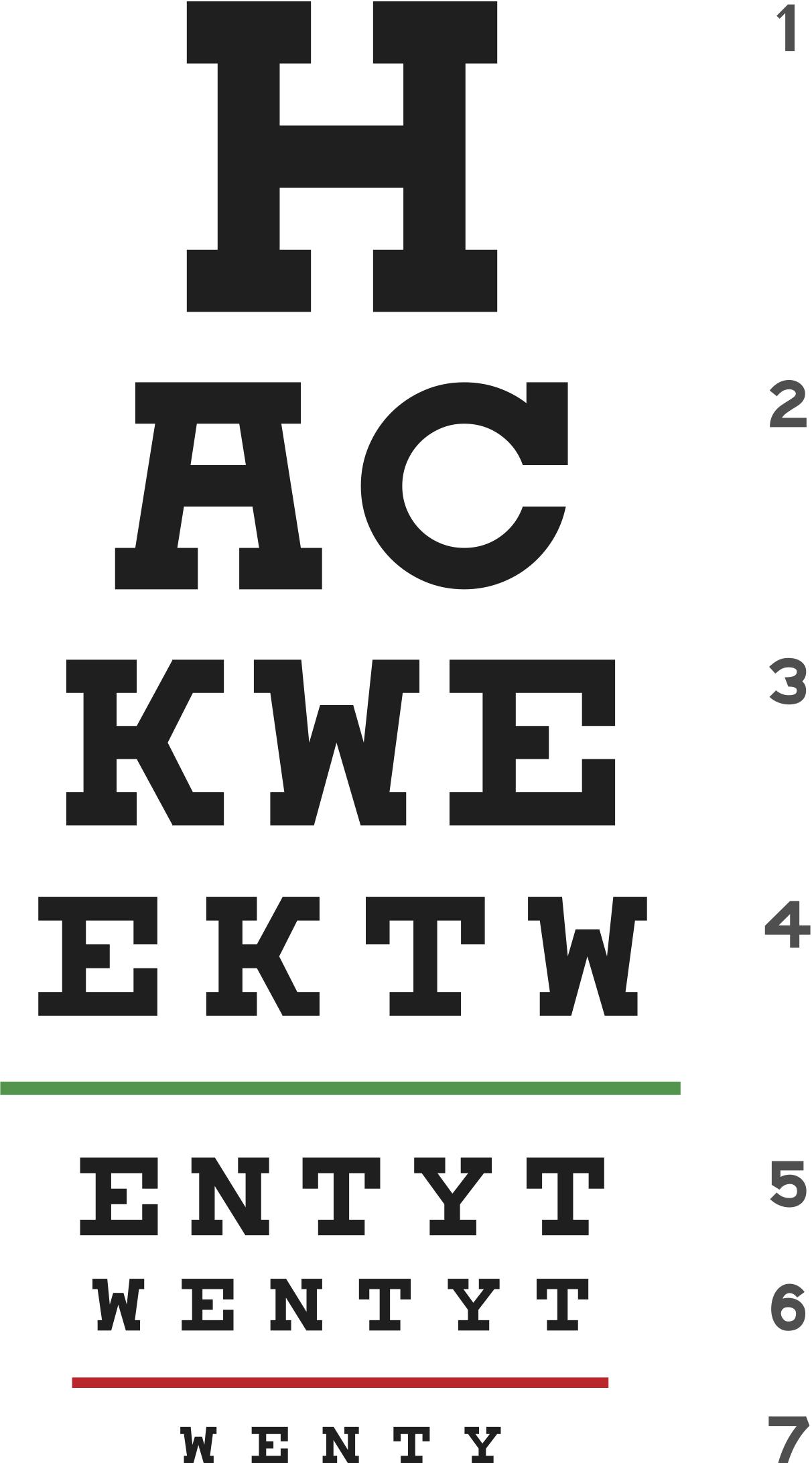 Hack Week 20 t-shirt logo designed by Zillow employee Scott Smith. It looks like an eye exam poster